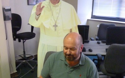"""""""Pope Francis"""" Visits the Computer Lab"""