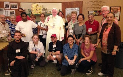 """""""Pope Francis"""" Visits The Franciscan Food Center"""